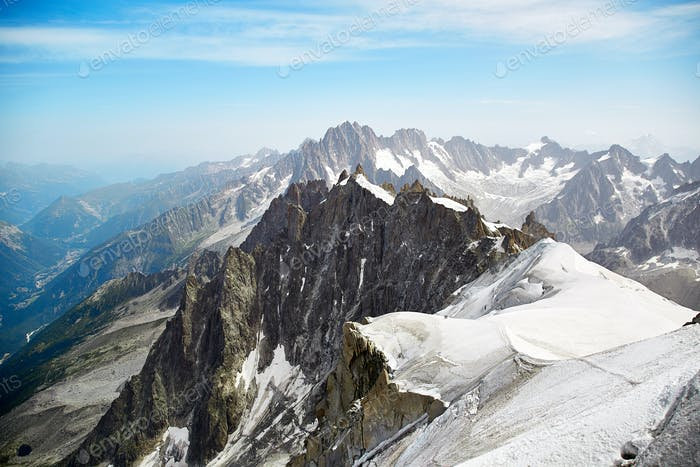 Thumbnail for View of Chamonix Mont Blanc Massif, French Alps
