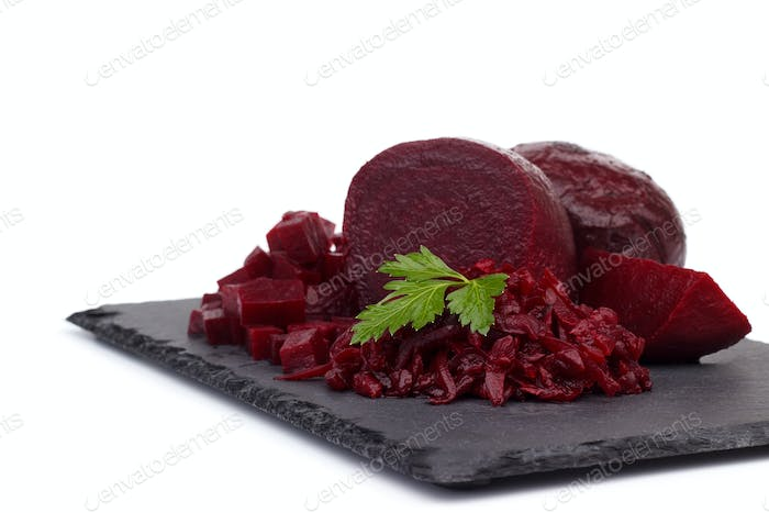 Boiled beetroot cut into slices
