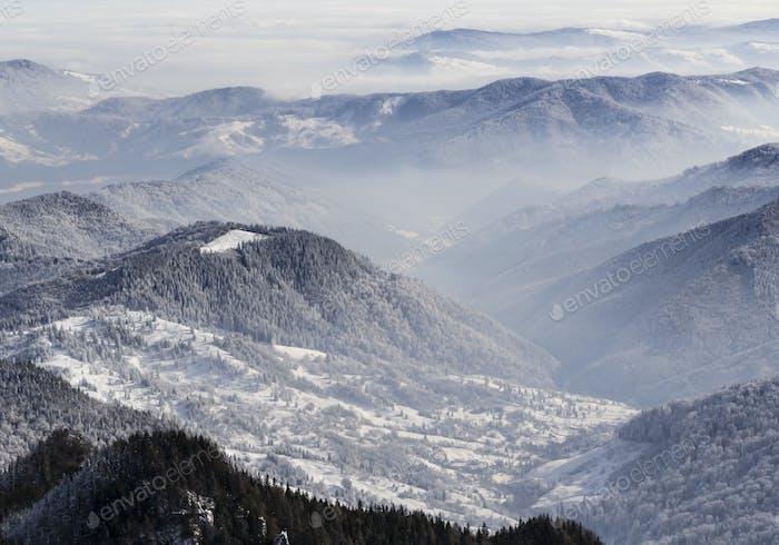 Top Blick vom Ceahlauer Gebirge