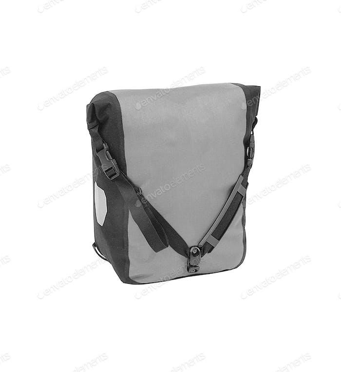 Graue Tasche isoliert auf weiß