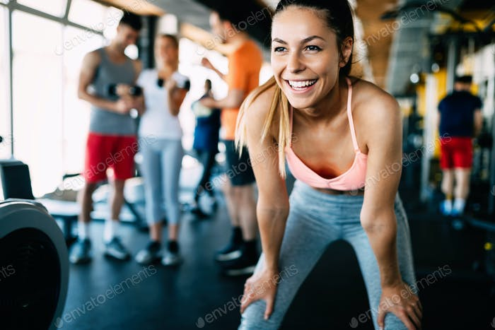 Thumbnail for Close up image of attractive fit woman in gym