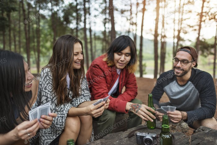 Thumbnail for People Friendship Hangout Traveling Destination Camping Concept