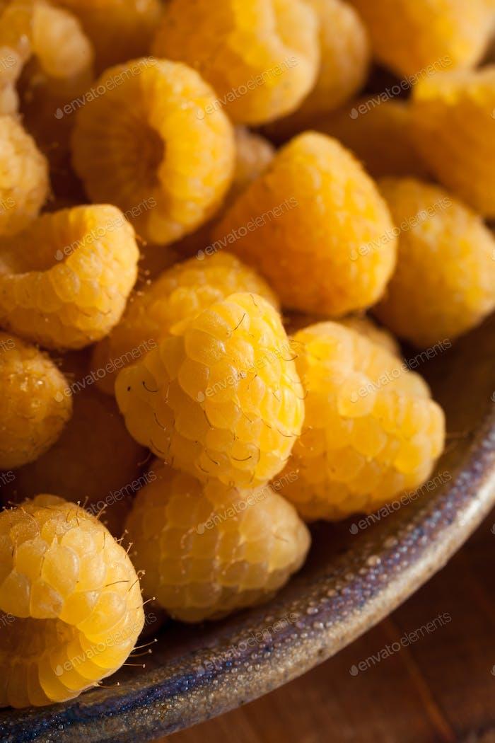 Raw Organic Yellow Raspberries