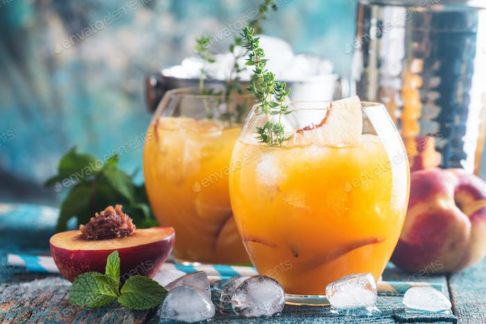 Peach cocktail or tea