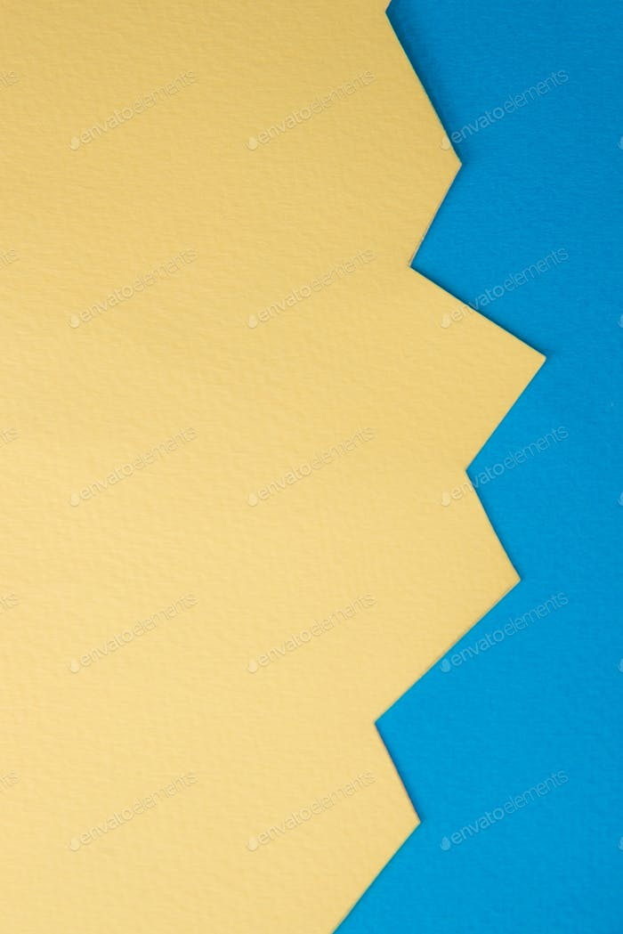 Yellow and blue business graphic.