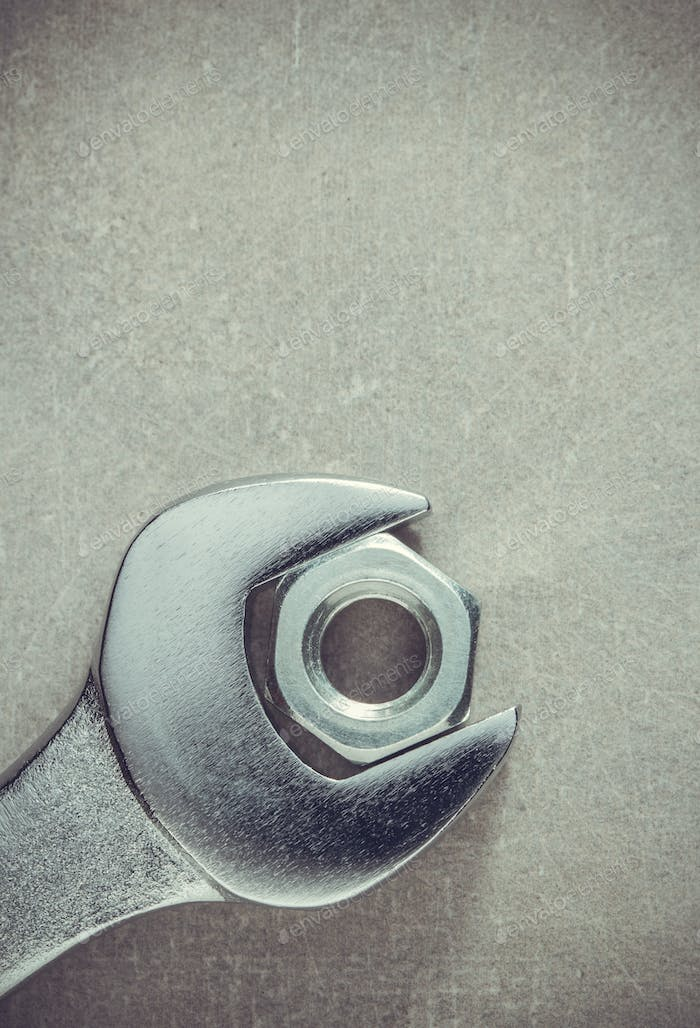wrench tools and nut