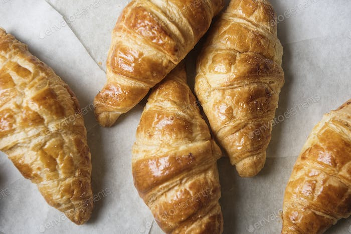 Homemade croissant food photography recipe idea