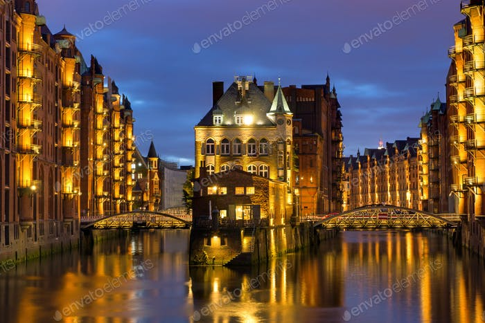 Old warehouses in Hamburg