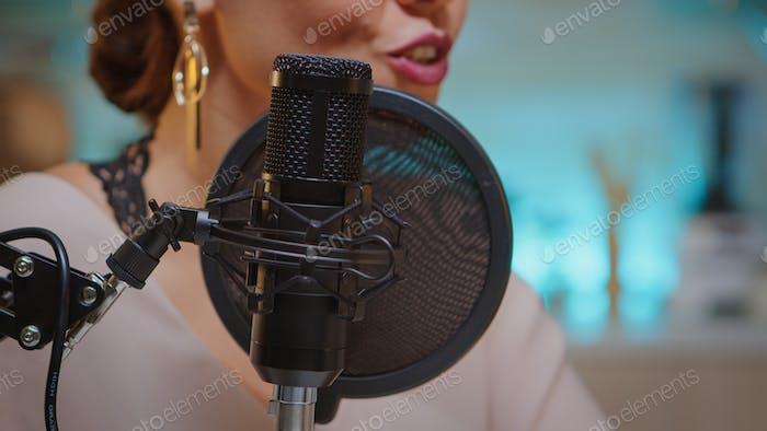 Recording voice in home studio