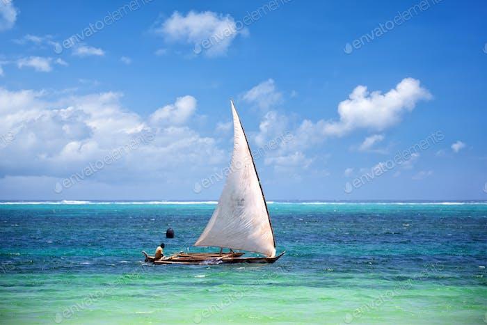 Fishing boat in Zanzibar
