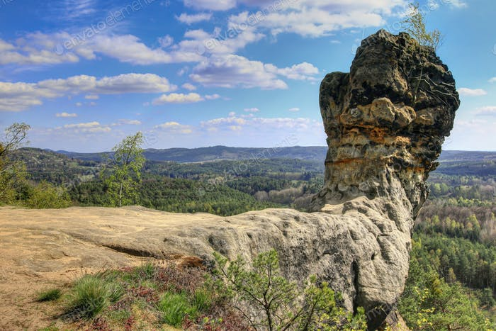 Bizarre rock formation