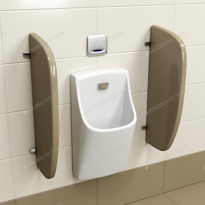 Urinal with sensor