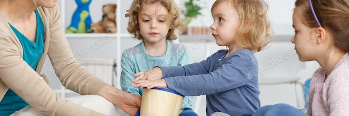 Kids with drum
