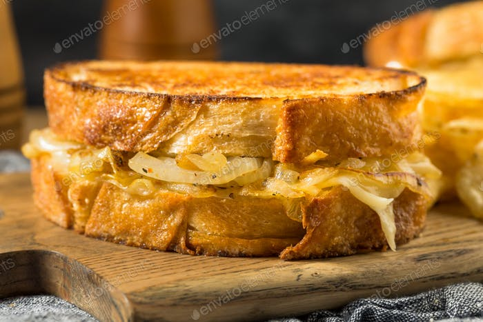 Homemade Onion French Melt Sandwich