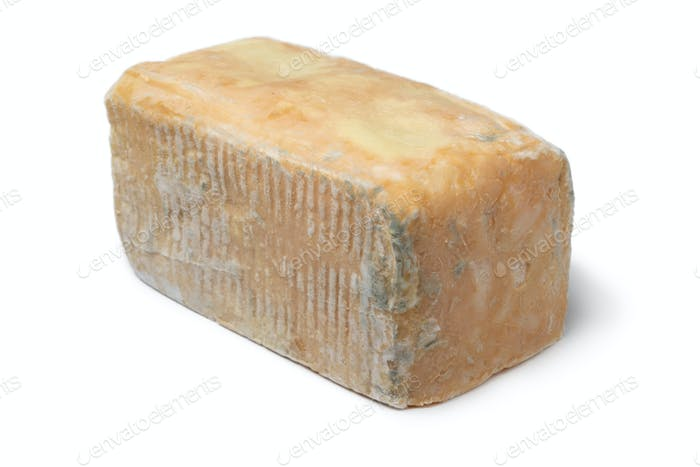 Piece of traditional Taleggio dop close up