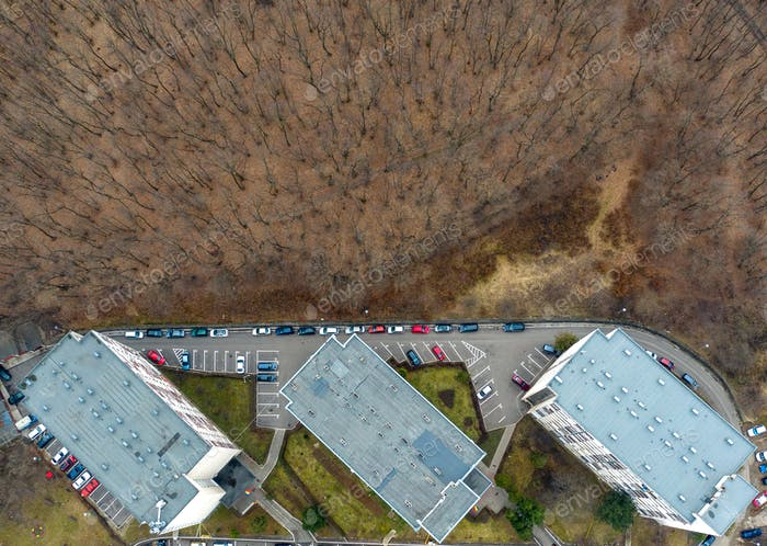 Aerial View of Urban Environment, City Expansion Against Virgin Nature, Cluj Napoca, Romania