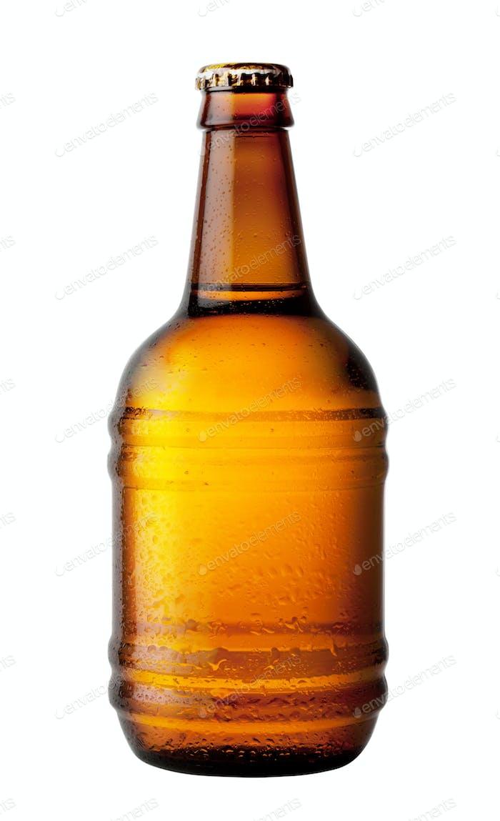 Heavy beer bottle