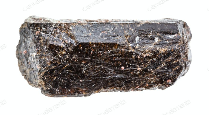 unpolierter brauner Turmalin (Dravit) Kristall