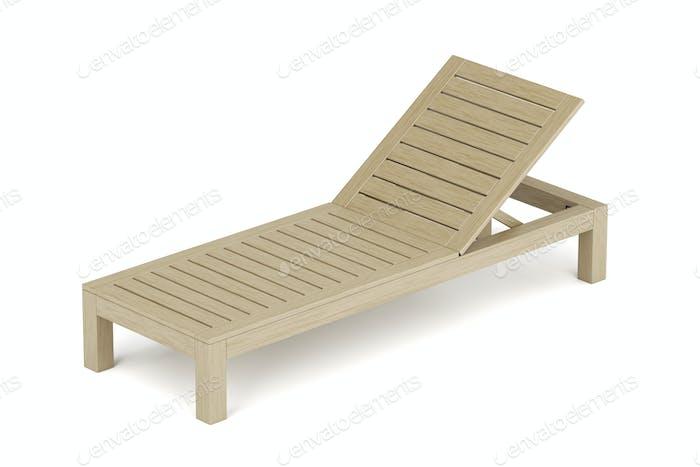 Strandliege aus Holz