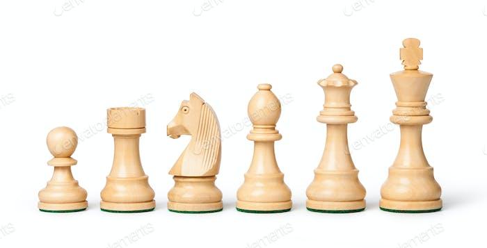 Schachfiguren aus Holz