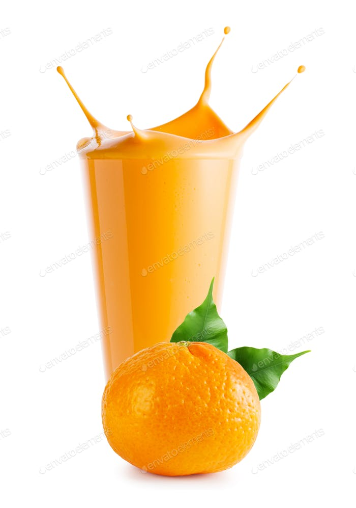 Splash in tangerine smoothie or yogurt