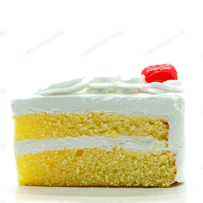 cake slice isolated