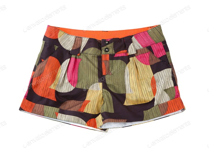 Vintage multicolor retro shorts