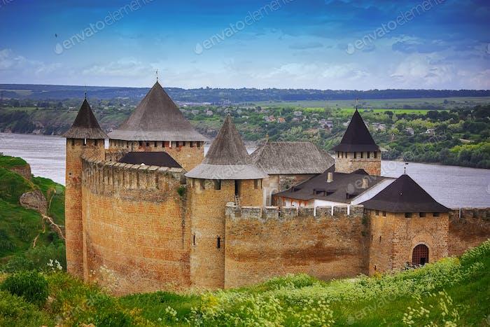Khotyn castle on Dniester riverside