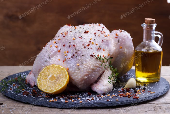 Whole raw chicken