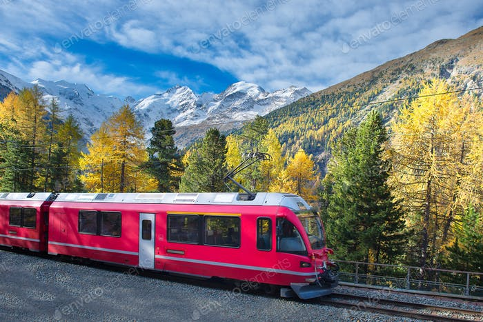 Swiss mountain train