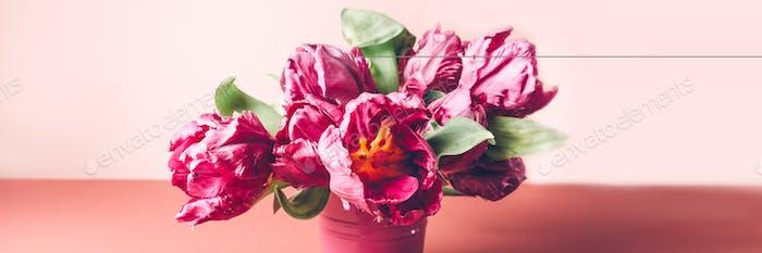 Bunch of Peony Style Tulips