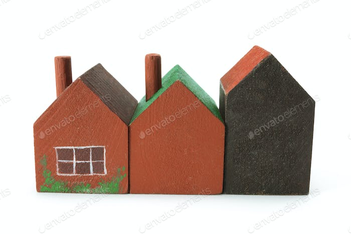 Wooden Miniature Houses