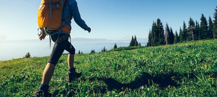 Hiking in beautiful nature