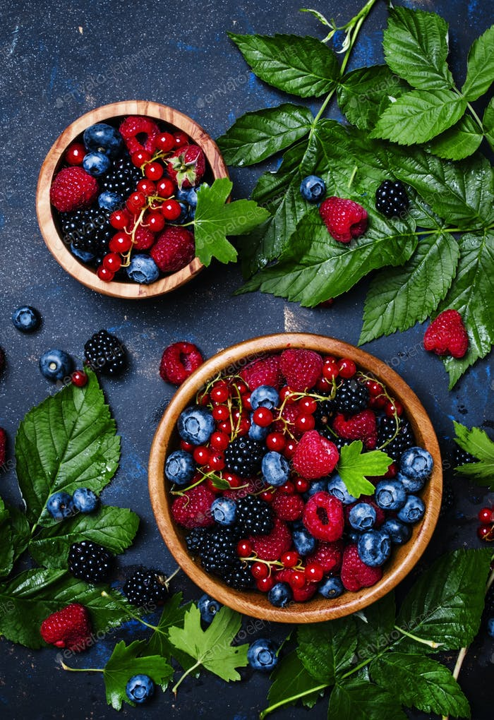 Mix of summer berries