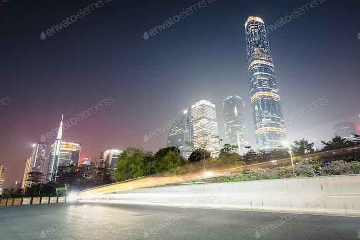 Guangzhou Pearl River Neustadt bei Nacht