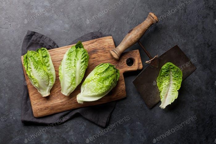Mini romaine lettuce salad