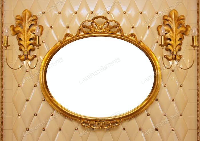 Luxury vintage mirror isolated inside