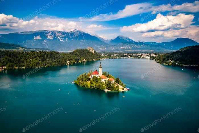 Slowenien - Ferienort Bleder See.