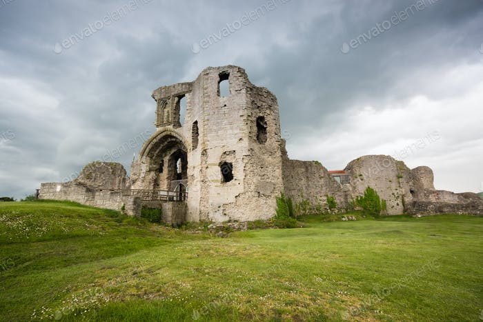 Denbigh Castle in North Wales UK