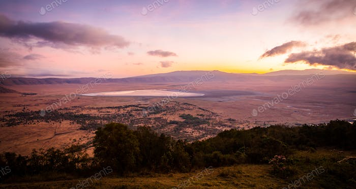 Thumbnail for Early morning sunrise in the Ngorongoro crater