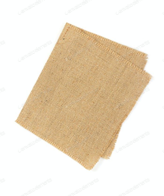 cloth napkin isolated on white