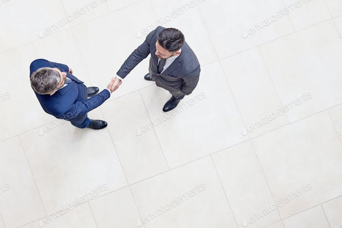 Confident Entrepreneurs Shaking Hands