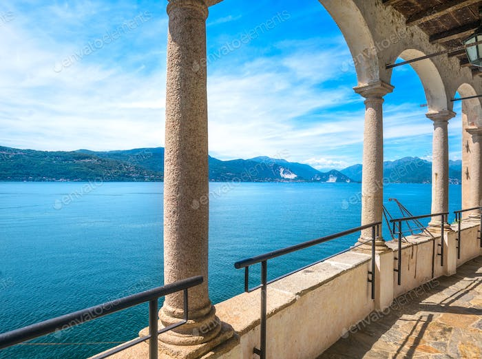 Maggiore lake view from Hermitage or Eremo of Santa Caterina del