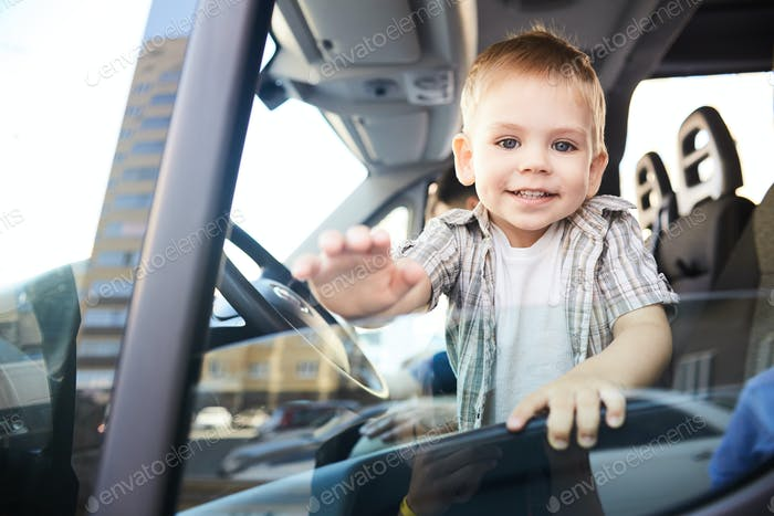 Adorable Child in Car