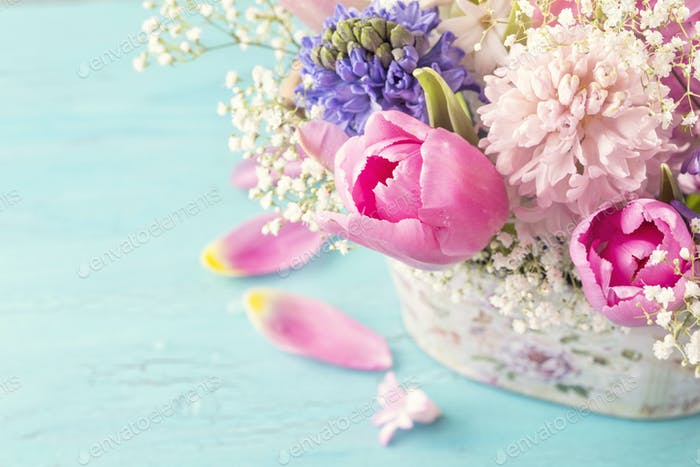 Pastel colored flower