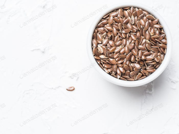 Flax seeds with copy space