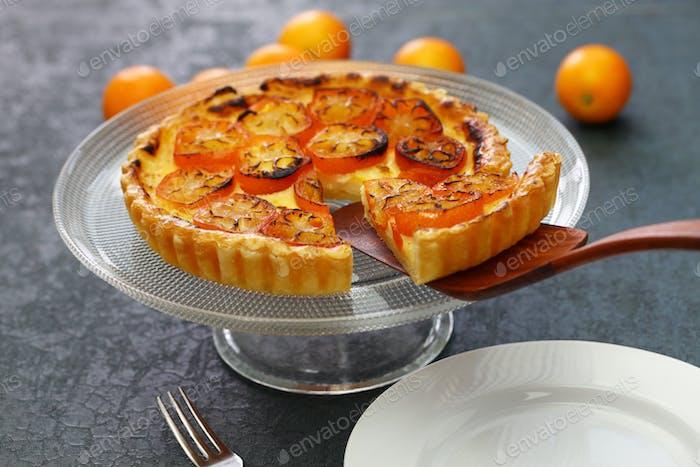 kumquat tart, homemade dessert