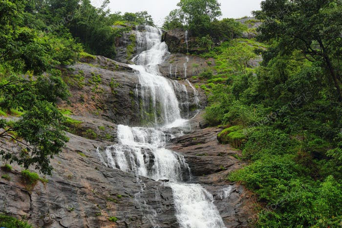 Cheeyappara Waterfalls in Kerala province, India
