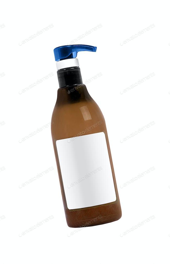Liquid soap bottle isolated on white background