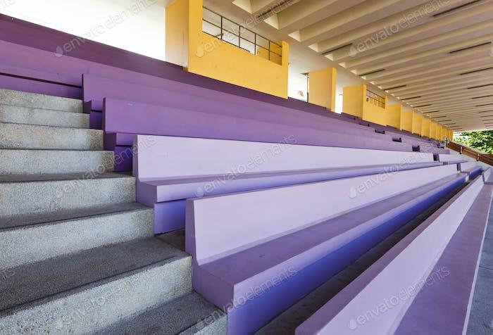 Audience bench in stadium